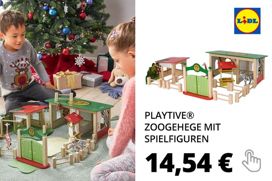 PLAYTIVE® Zoogehege mit Spielfiguren