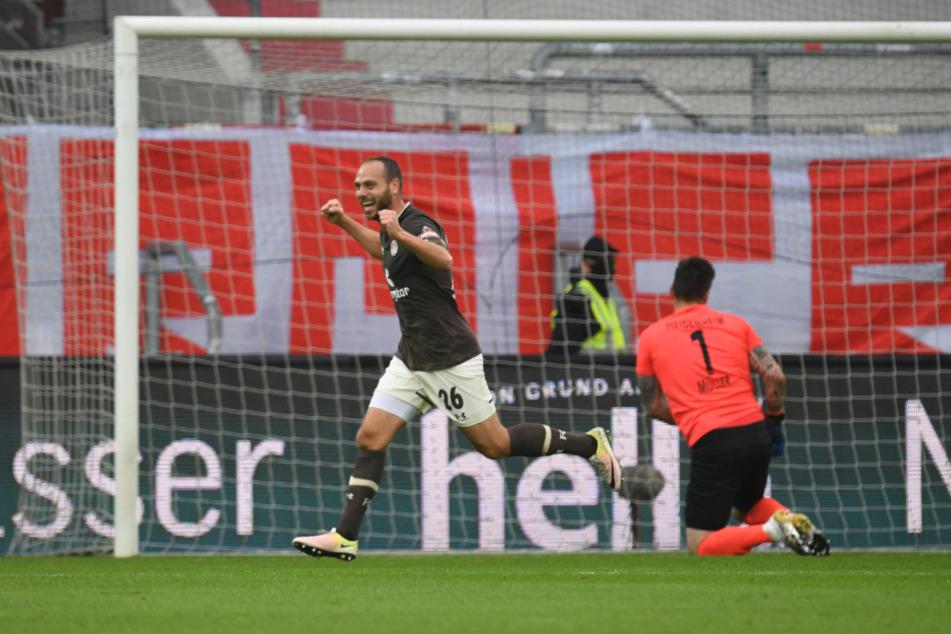 Rico Benatelli (28) schoss im Hinspiel gegen Heidenheim das 1:0.