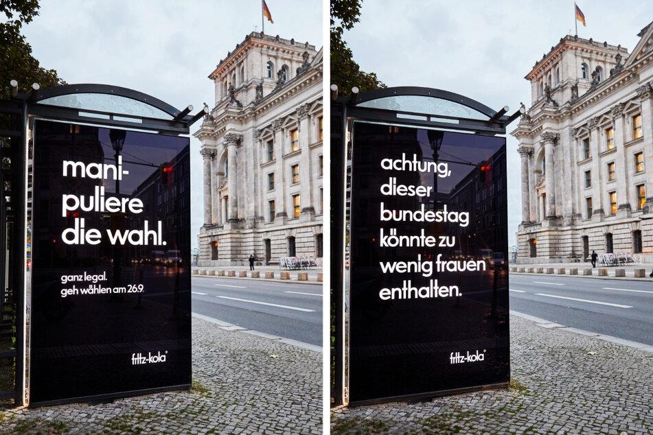 Auch das Thema Gleichberechtigung wird behandelt. fritz-kola will die Menschen motivieren, ihre Stimme zu nutzen.