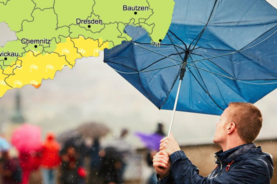 Wetterdienst warnt vor Sturmböen in Sachsen