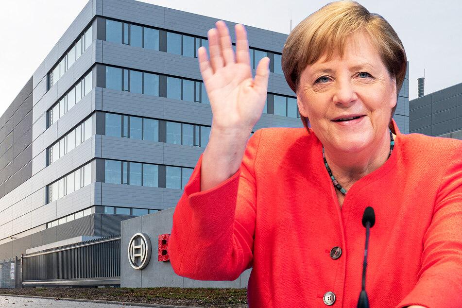 Dresden: Angela Merkel bei Eröffnung von Bosch-Fabrik dabei