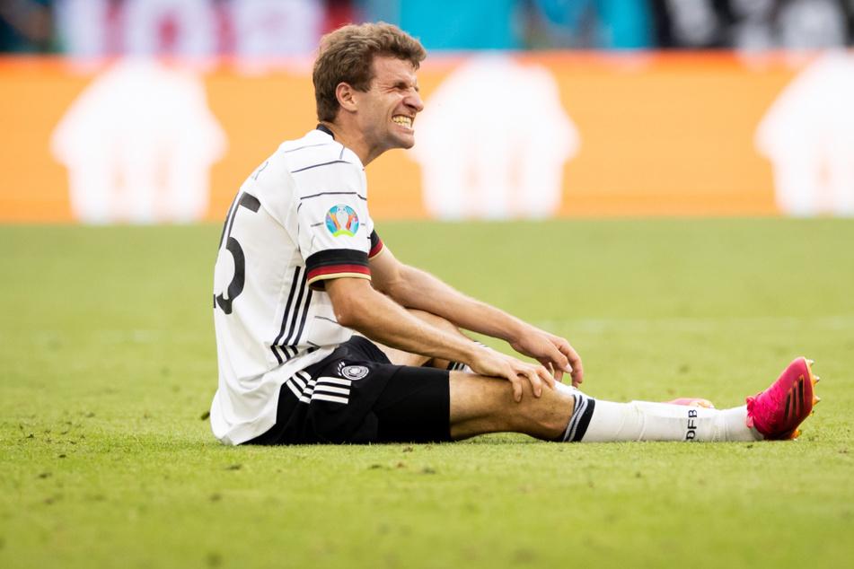 Thomas Müller (31) verpasst höchstwahrscheinlich das letzte Gruppenspiel gegen Ungarn. Auch für das Achtelfinale ist sein Einsatz fraglich.