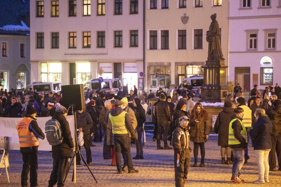 Unter anderem in Annaberg haben Menschen gegen die Corona-Maßnahmen demonstriert.