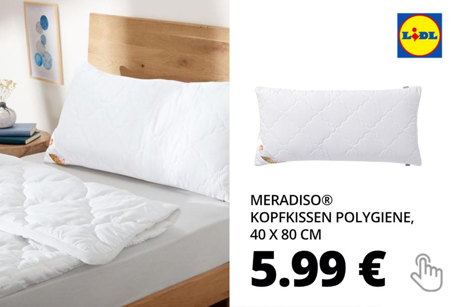 MERADISO® Kopfkissen Polygiene, 40 x 80 cm