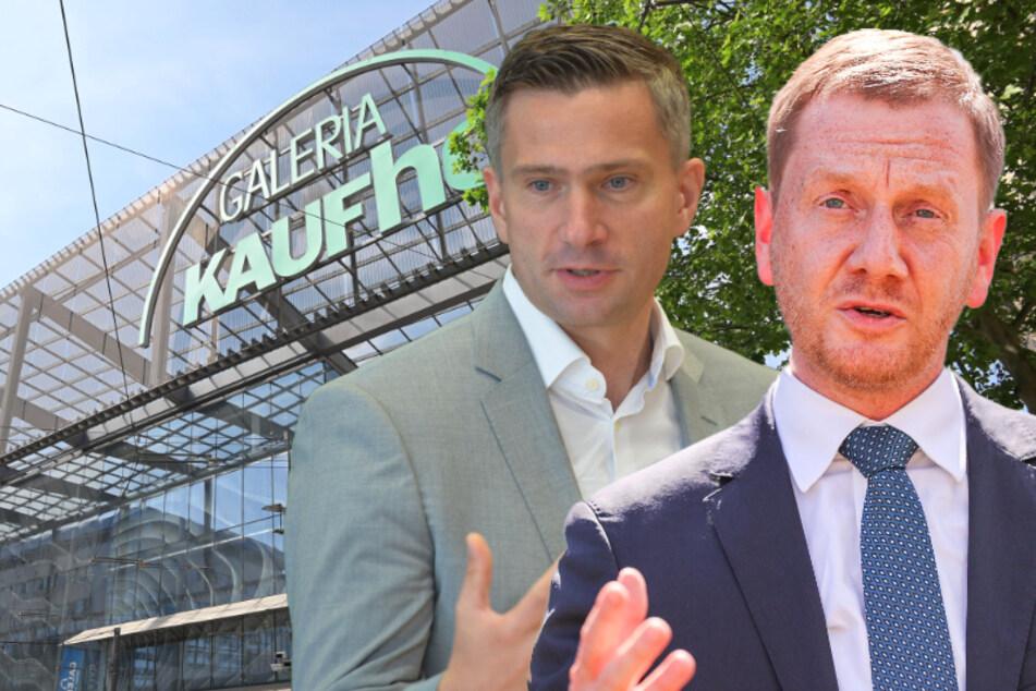 Kretschmer und Dulig kämpfen um Chemnitzer Kaufhof-Filiale