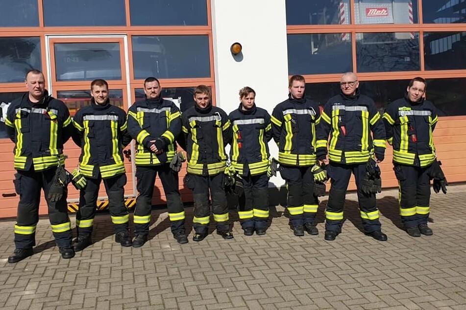Die Freiwillige Feuerwehr in Bergen.
