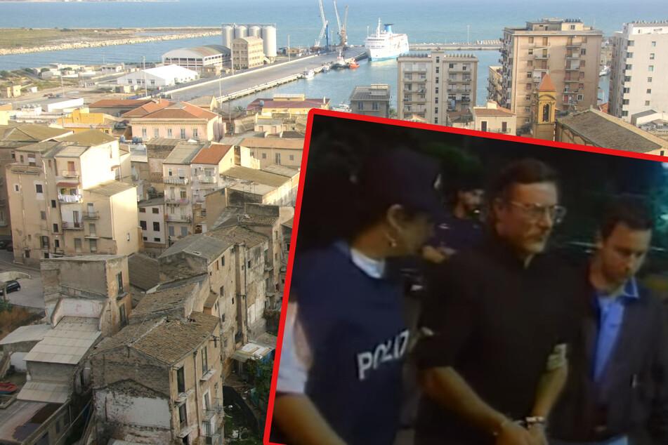 Die sizilianische Hafenstadt Porto Empedocle - hier residierte einst der Pate der Cosa Nostra von Agrigent, Giuseppe Putrone (63, kl. F.), der 1999 verhaftet und zu lebenslanger Freiheitsstrafe verurteilt wurde.