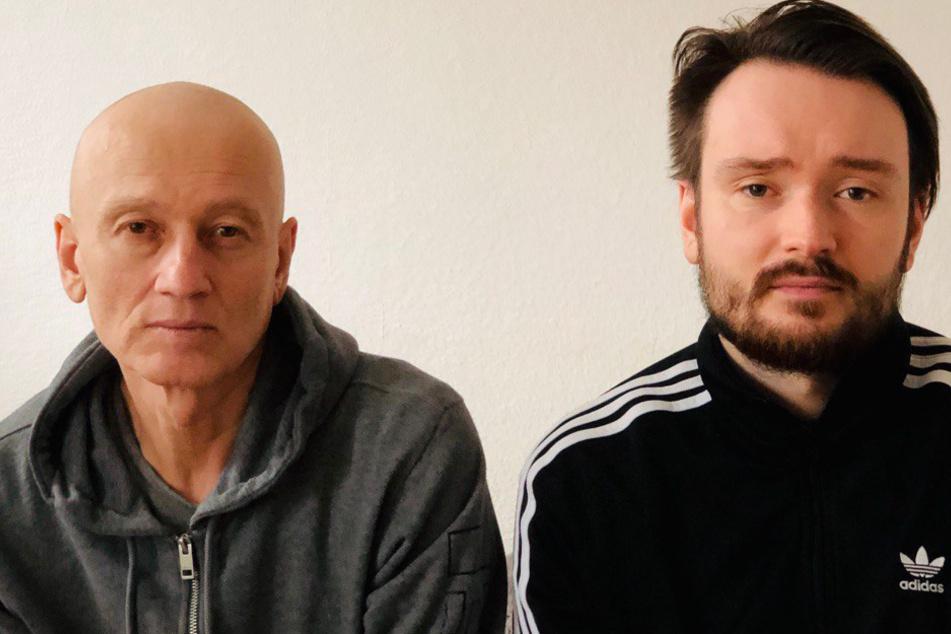 Oleksandr Shytiuk ist von seiner Krebserkrankung gezeichnet, hat viel abgenommen und seine Haare verloren.