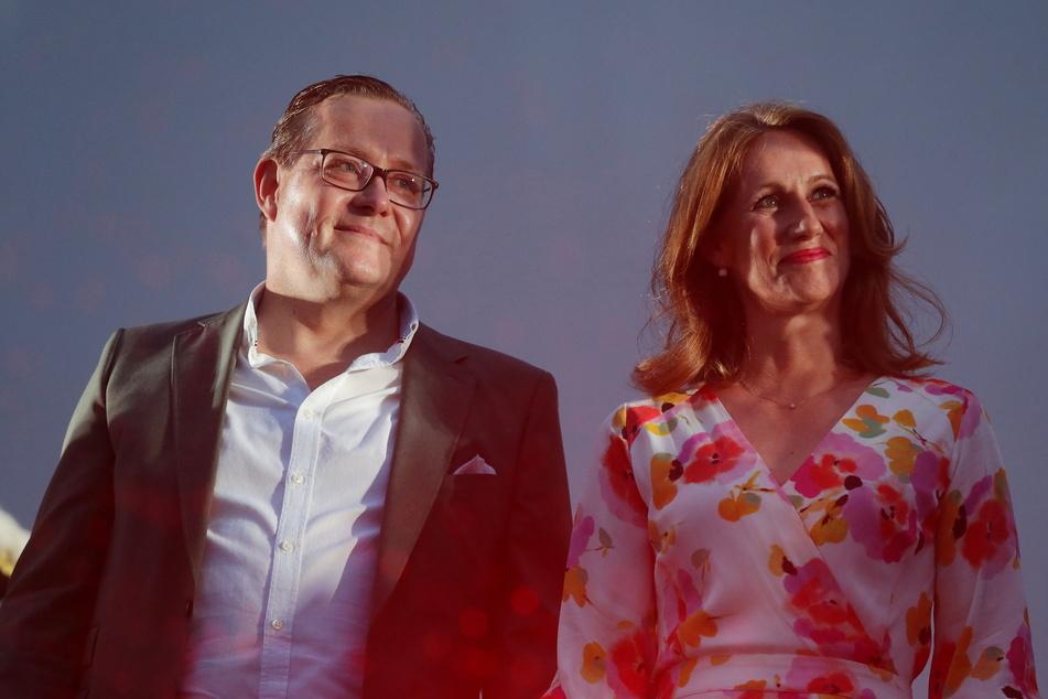 Das Düsseldorfer Karnevals Prinzenpaar Prinz Dirk Mecklenbrauck und Venetia Uasa Katharina Maisch wird im Autokino vorgestellt.