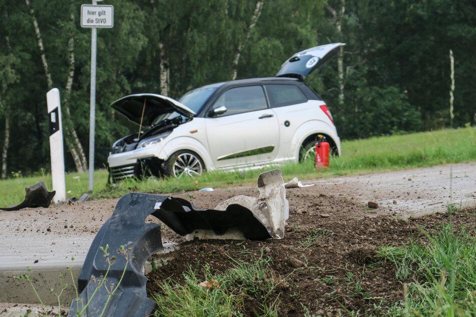 Am Samstagabend überschlug sich eine 15-Jährige mit einem Leichtauto in Stützengrün.