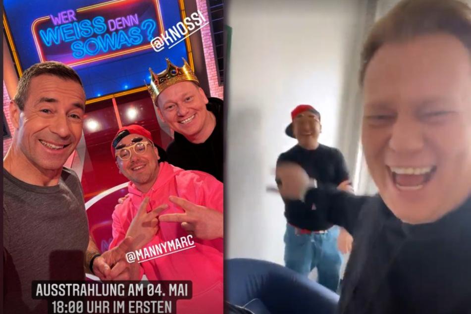 Knossi und Manny Marc lachen sich bei ARD-Dreh über Krankenhaus-Feeling kaputt
