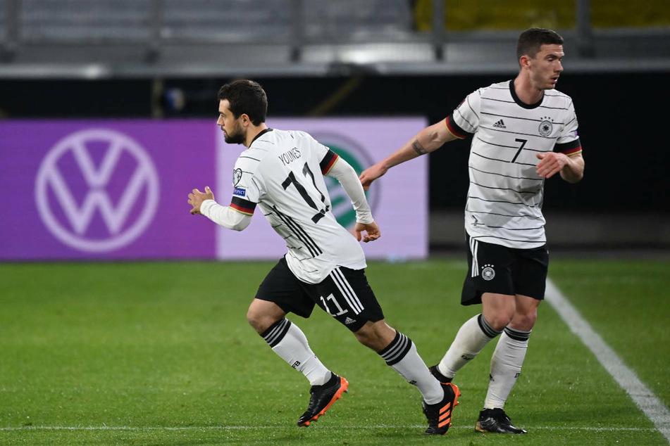 Amin Younes ersetzt im WM-Qualifikationsspiel am 31. März 2021 gegen Nordmazedonien (1:2) Robin Gosens.