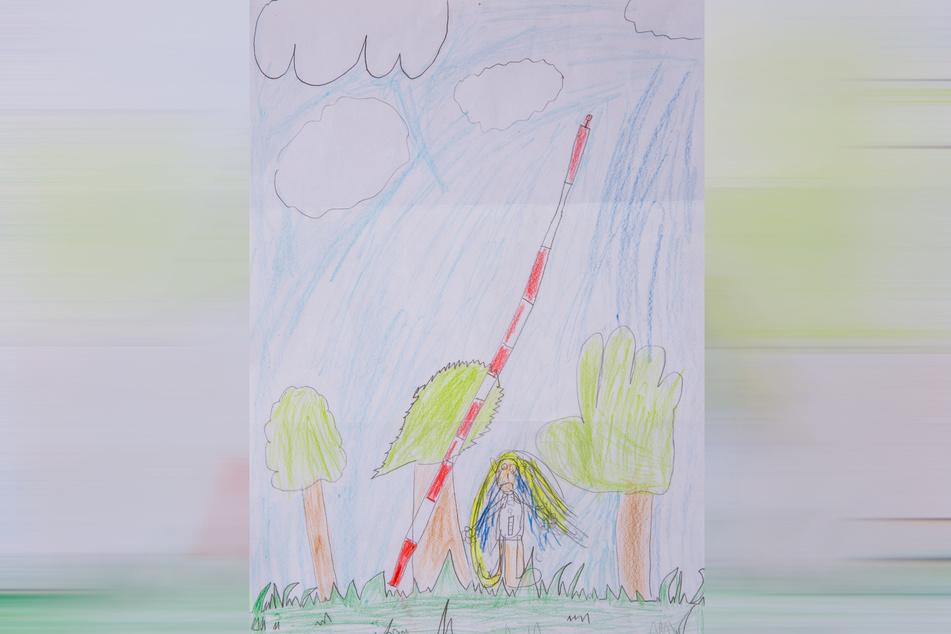 Dieses Bild zeigt den fallenden Funkturm.