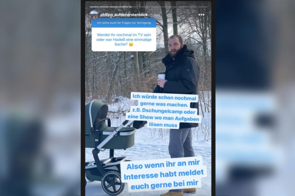 Bei Instagram beantwortete Philipp (34) Fragen.