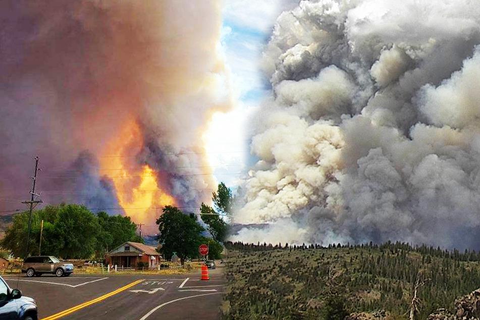 Eine Feuersäule fegt durch Kalifornien.