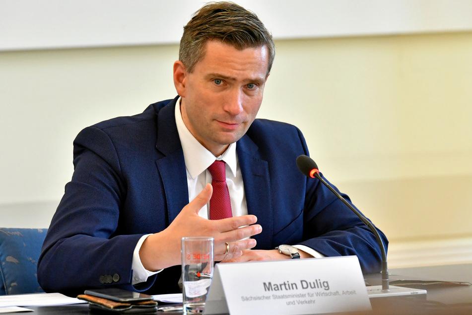 Sachsens Wirtschaftsminister Martin Dulig (46, SPD) fürchtet um die Wettbewerbsfähigkeit des Wirtschaftsstandortes Sachsen auswirken, wenn weniger Betriebe ausbilden (Archivbild).