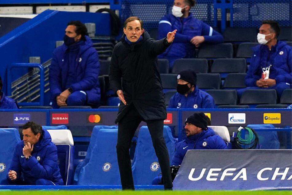 Chelseas deutscher Coach Thomas Tuchel verzweifelte im zweiten Abschnitt immer wieder an der schlechten Chancenverwertung seiner Blues.