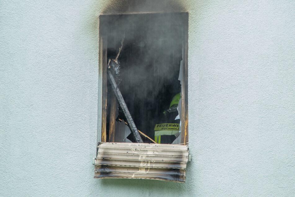 Alles verkohlt! Durch das Feuer wurde die Brandwohnung komplett zerstört.