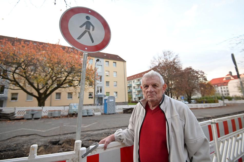 Baustellen Chemnitz: Baustellen-Ärger in Chemnitz: Anwohner fühlen sich eingesperrt