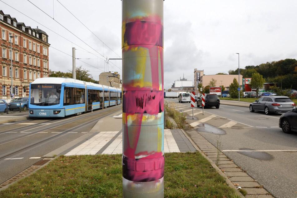 Mehrere Blitzer wurden in Chemnitz beschmiert. Unter Verdacht steht eine Chemnitzerin (21) (Archivbild).