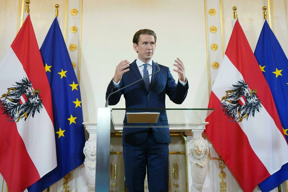 """Sebastian Kurz (ÖVP), Bundeskanzler von Österreich, spricht bei einer Erklärung zum Thema """"Aktuelle Lage und Ausblick auf den Herbst"""" im Bundeskanzleramt."""