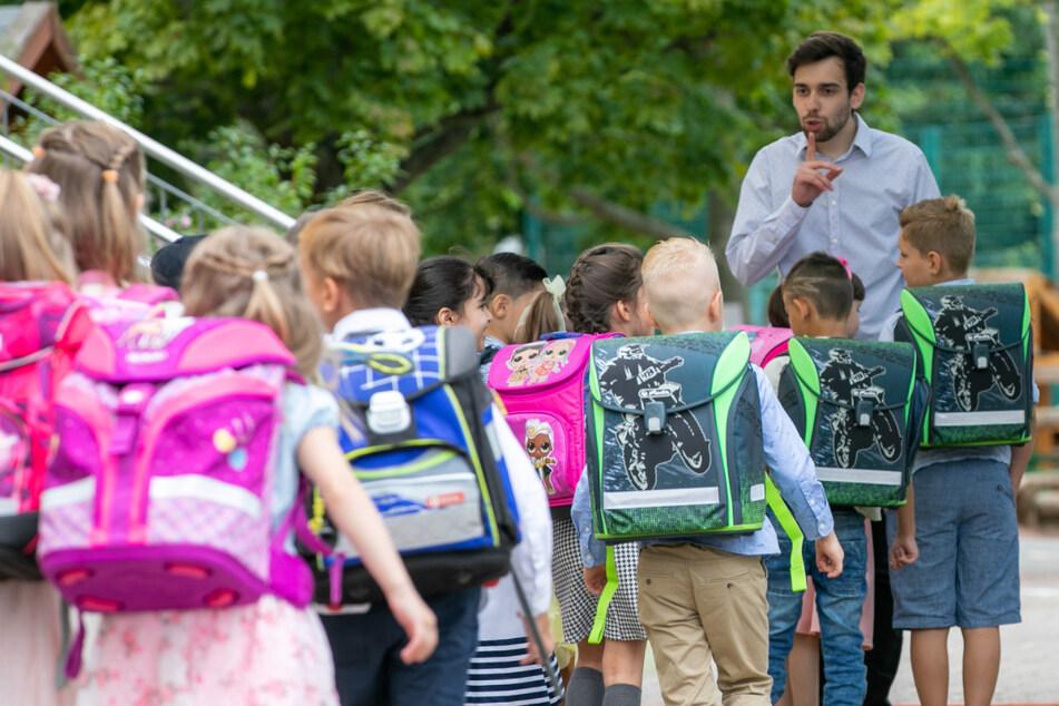 In Sachsen wurden Samstag insgesamt rund 39.500 Kinder eingeschult.