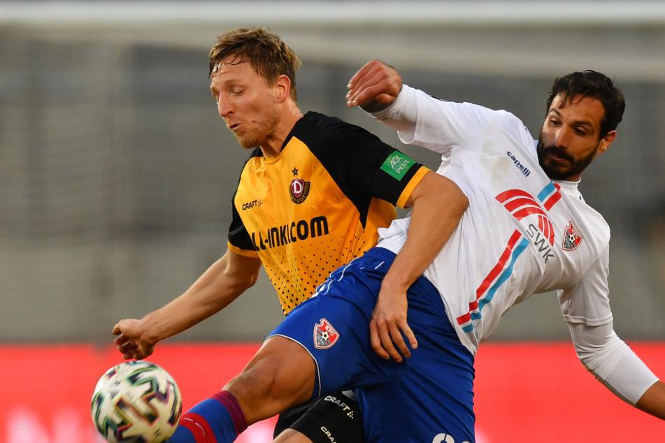 Das Match gegen den KFC Uerdingen war der bisher letzte Einsatz von Marco Hartmann (33) im Dynamo-Trikot.