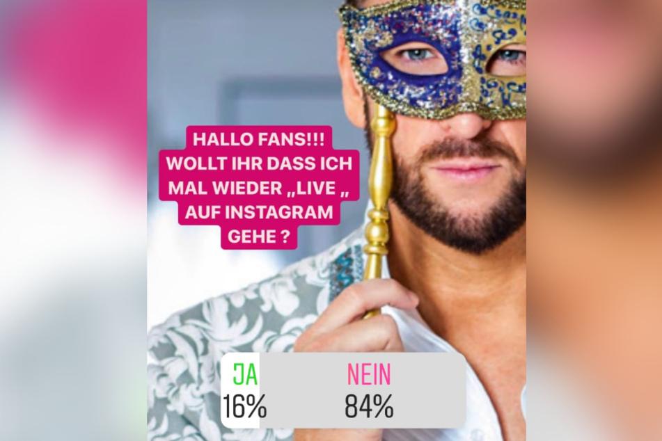 Auf Instagram rief Michael Wendler seine Fans zur Abstimmung auf.