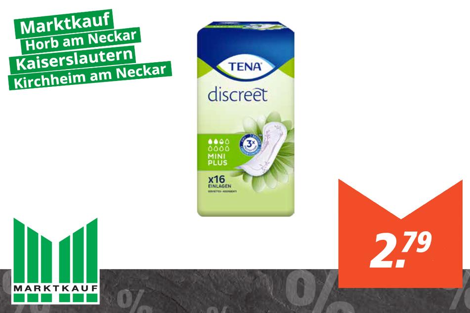 Tena discreet Einlagen für 2,79 Euro