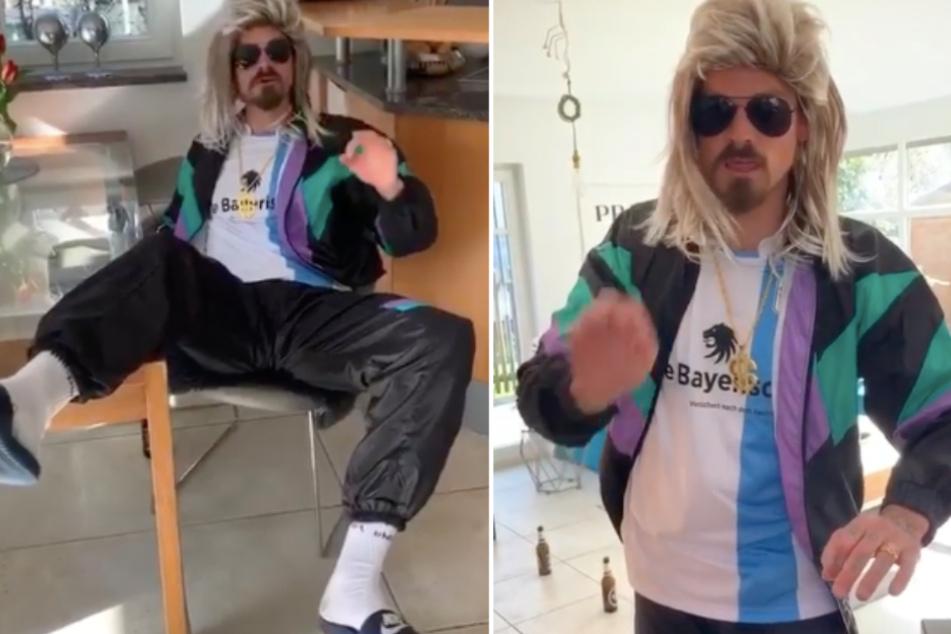 So trainiert die 3. Liga: Münchner Dennis Erdmann bringt Netz zum Lachen