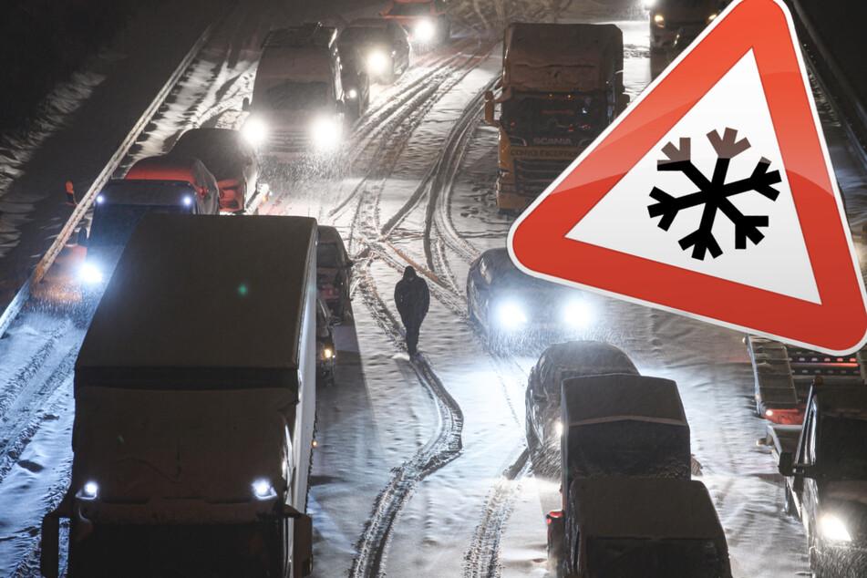 Schnee-Chaos extrem: Stillstand in Teilen Deutschlands