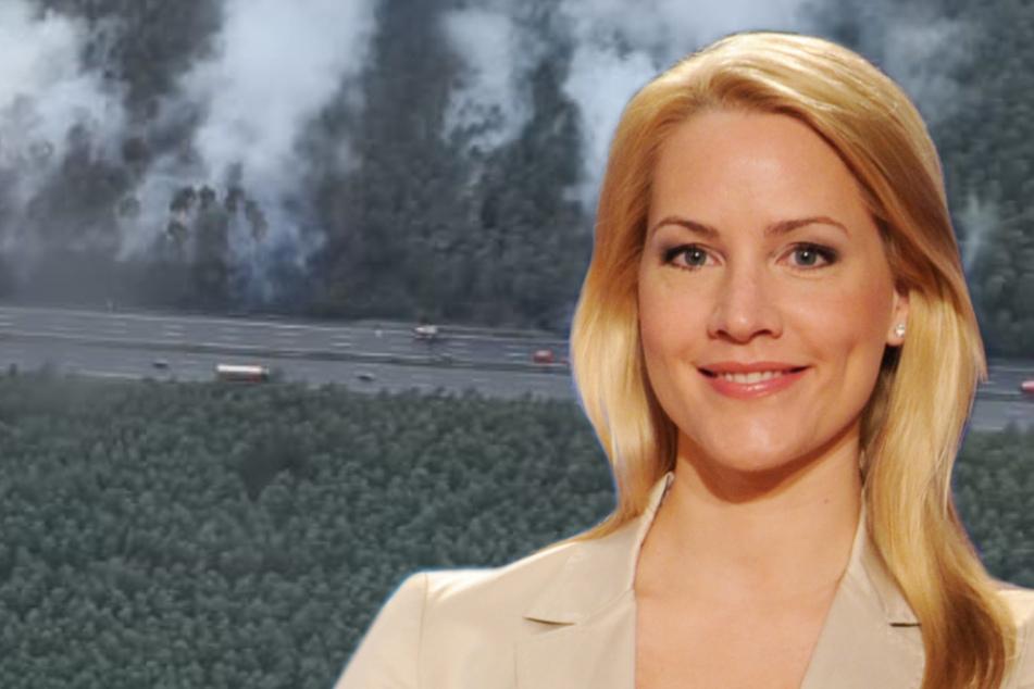 Judith Rakers im Mega-Stau: Waldbrand stoppt Miss Tagesschau