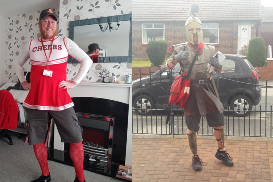 Jon verkleidete sich bereits als Cheerleader und als römischer Soldat.