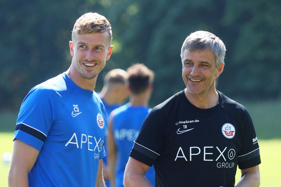 Thomas Meißner (30, l.) kam vom Puskas Akademia FC aus Ungarn, bringt Erstliga-Erfahrung von dort und aus den Niederlanden mit. Beim MSV Duisburg spielte er bereits eine Saison in der 2. Bundesliga und kennt die Spielklasse daher gut.