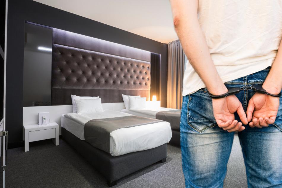 Nachdem die Frau das Hotel verlassen hatte, wurde der Hotelgast festgenommen. (Symbolbild)