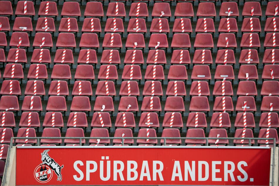 Die leeren Plätze im Kölner Stadion.