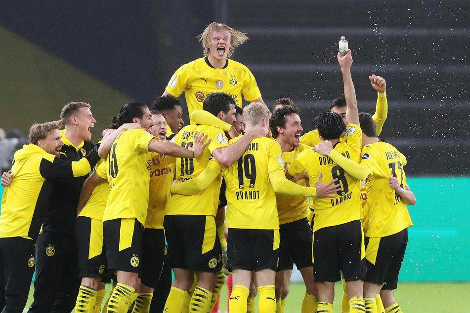 Will nach 27 Toren aus 28 Spielen noch mehr: Erling Haaland (oben) bleibt wahrscheinlich noch ein Jahr in Dortmund.