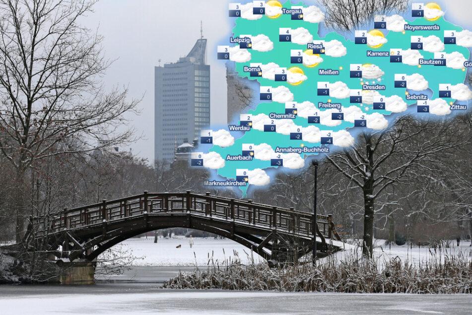 Mit Schnee, Glatteis und Frost: So winterlich startet Sachsen in den Dezember