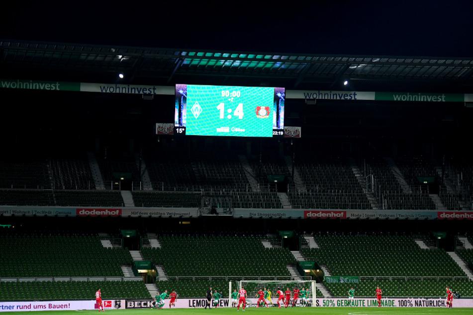 Tristesse im Weserstadion: Werder Bremen unterlag Bayer 04 Leverkusen deutlich mit 1:4.