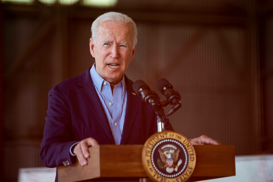 Biden became the first president to visit the National Interagency Fire Center in Boise, Idaho, before he continued to California.