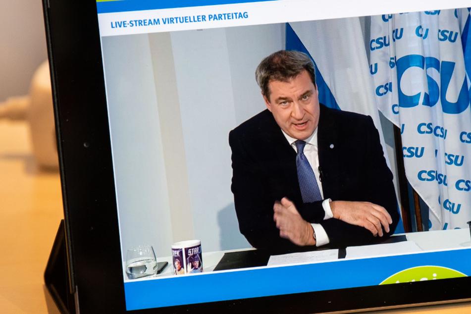 CSU-Parteitag im Netz: Markus Söder über die Auswirkungen der Corona-Krise
