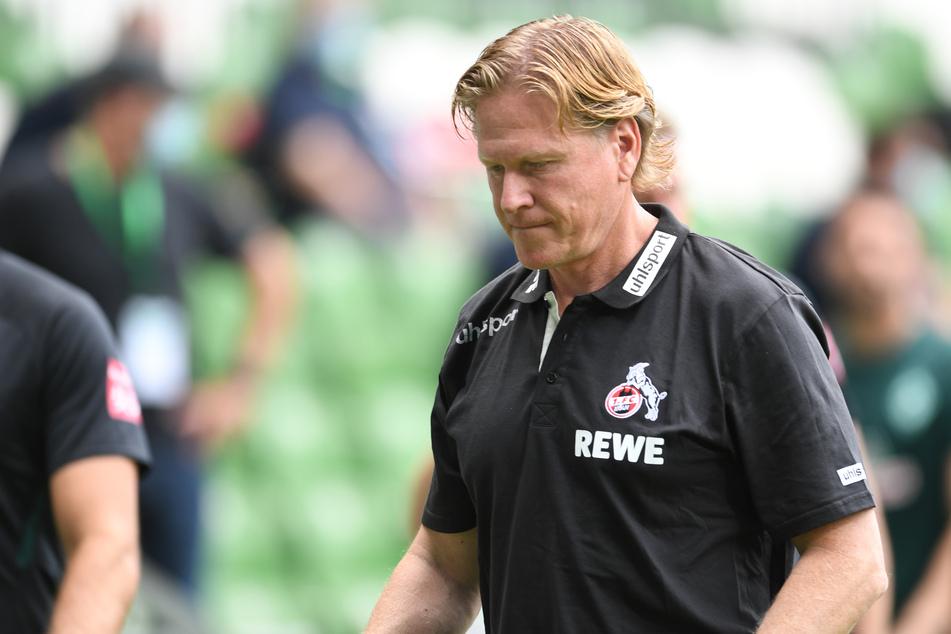 FC-Trainer Markus Gisdol (50) war nach der Kölner Niderlage in Bremen bedient.