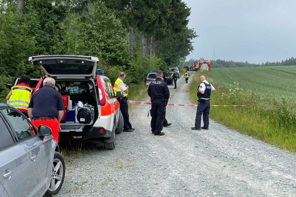 Die Rettungskräfte waren schnell vor Ort und sperrten das Unfallgebiet ab.