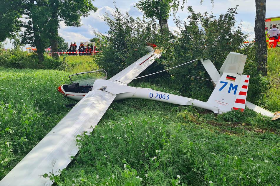 Das Flugzeug wurde bei dem Unfall in der Opferpfalz zerstört.