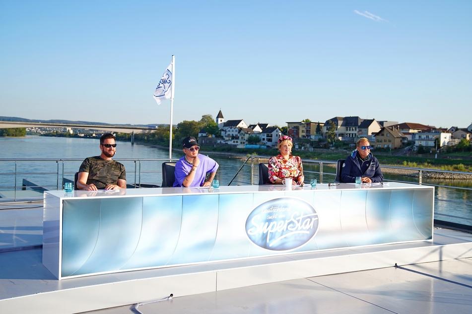 """Die Jury der Casting-Show """"Deutschland sucht den Superstar"""" (DSDS) mit Michael Wendler (l-r), Mike Singer, Maite Kelly und Dieter Bohlen."""