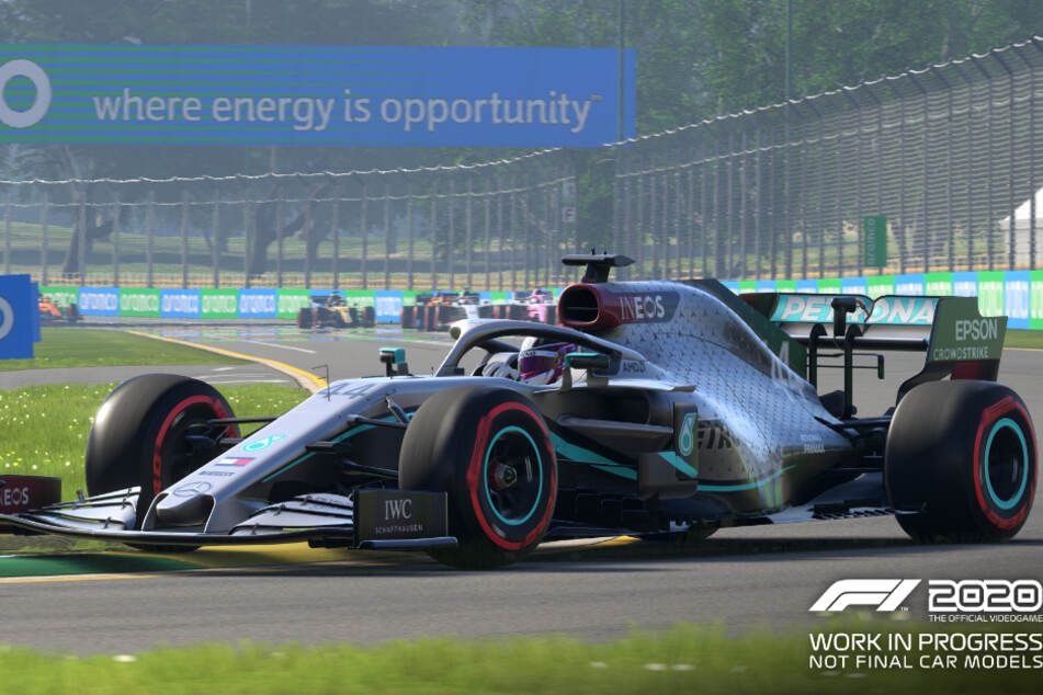 "Weltmeister Lewis Hamilton in ""F1 2020""."