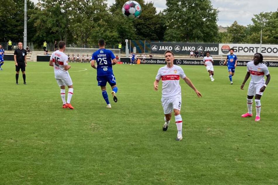 Ein Eindruck vom VfB-Test gegen RC Straßburg.