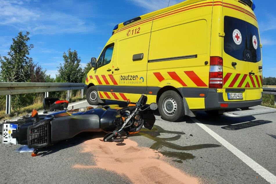 Mit diesem Motorrad stürzte der 49-Jährige.