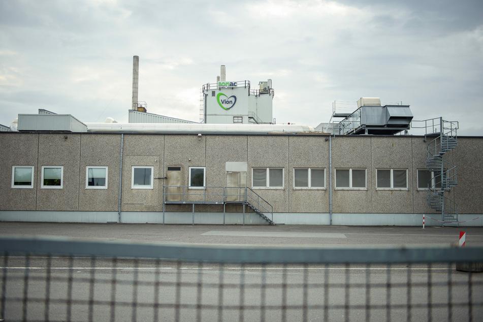 """Das Betriebsgelände des Schlachthofes des niederländischen Lebensmittelproduzenten """"Vion Food Group"""" ist menschenleer."""