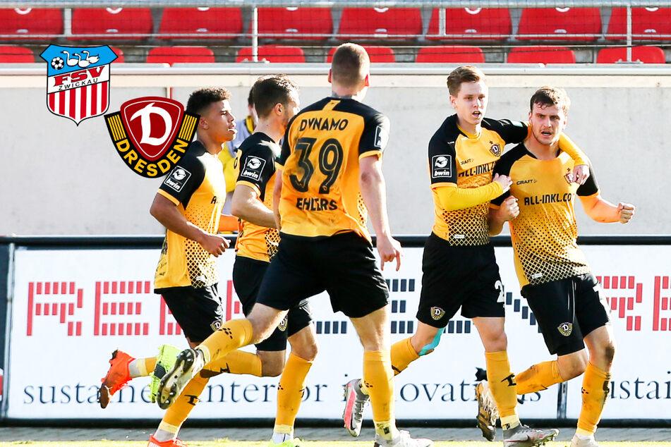 Dynamo gewinnt Sachsenderby beim FSV Zwickau und bleibt Spitzenreiter!